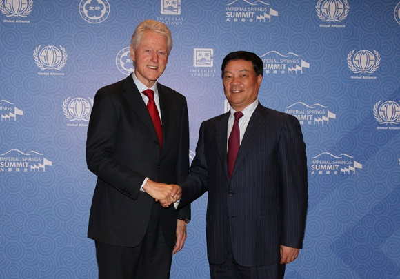 President Clinton met with Chinese Entrepreneurs