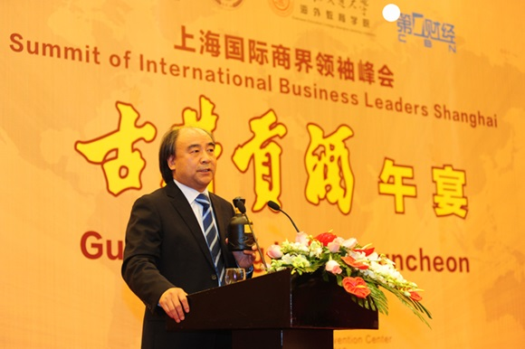 Mr. Liang Jinhui, General Manager of Gujing Group at the luncheon