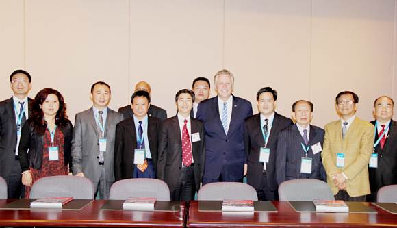 Photo of the Governor of Virginia with the China Delegation Leaders