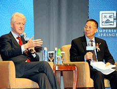 Dialogue between President Clinton and Dr. George Wang